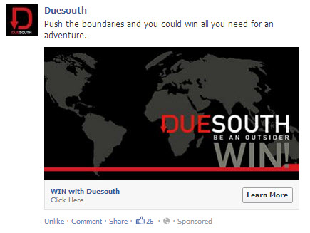 Due South Facebook advertising
